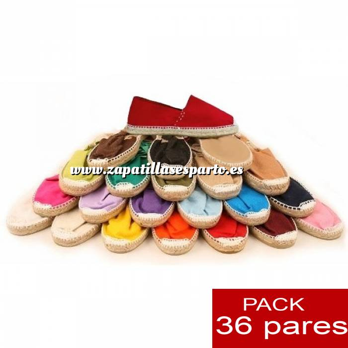 Imagen Mujer Colores Lisos Alpargatas Boda ESPECIAL Surtidas en colores y tallas - Caja de 36 pares
