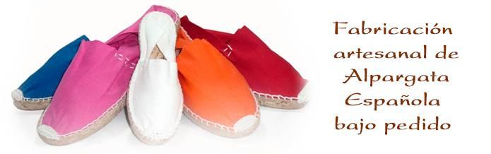 Zapatilla de esparto - Fabricación bajo pedido
