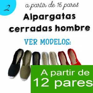 Imagen Hombre Cerradas Alpargatas Cerradas HOMBRE color BLANCO A partir de 12 pares