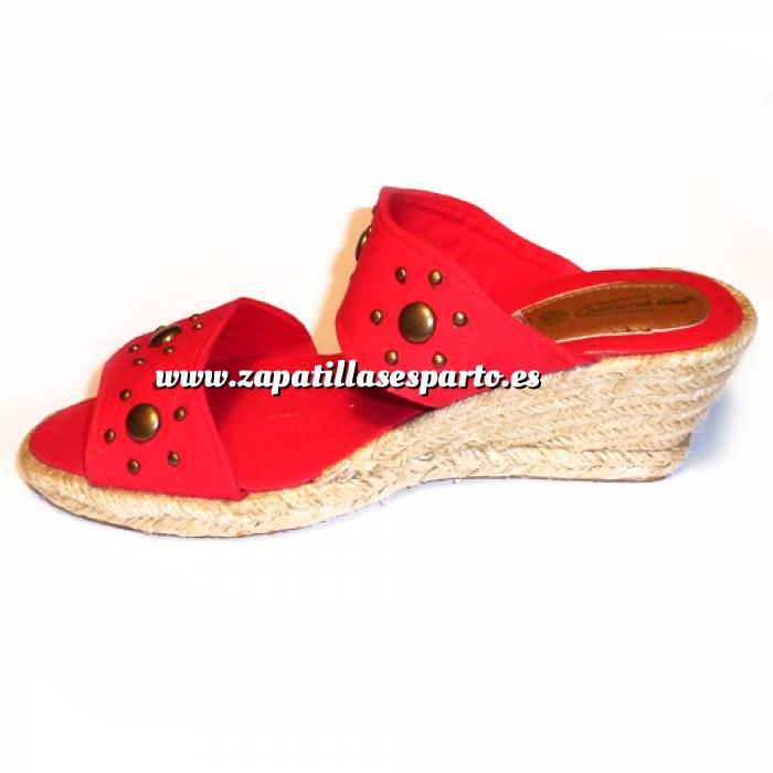 Imagen Rojo VALREM Y104511-S Alpargata Remaches Rojo Talla 40