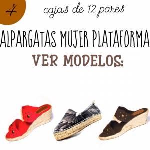 Alpargatas por CAJAS_Mujer Plataforma o Tacón