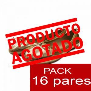 Alta Calidad - Manoletinas 808 DORADAS - Caja 16 pares (Últimas Unidades)