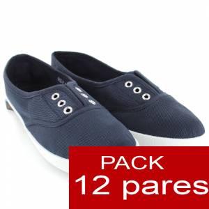 Alta Calidad - Zapatillas Tipo Victoria AZUL OSCURO - Lote de 12 pares (Últimas Unidades)