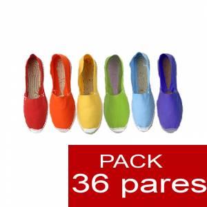 Mujer Cerradas - Alpargatas cerradas Boda Surtidas en colores y tallas - caja de 36 pares (Últimas Unidades)