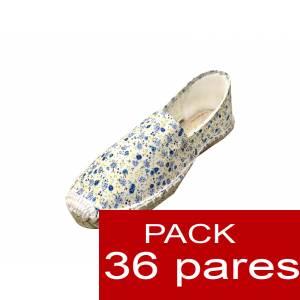 Mujer Estampadas - Alpargata estampada FLOR AZUL Caja 36 pares (Últimas Unidades)