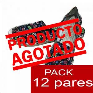 Mujer Estampadas - Alpargatas estampadas FLORES ESPECIALES 1 Caja 12 pares - OFERTA ULTIMAS CAJAS (Últimas Unidades)