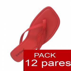 Otras Modelos - Sandalias rojas - Caja de 12 pares (�ltimas Unidades)