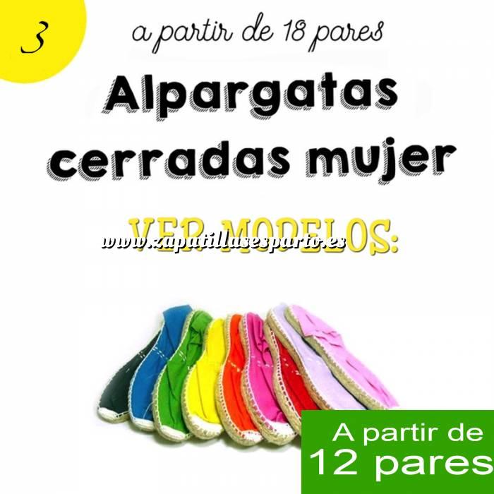 4eeccd80ca3 ... Imagen Mujer Cerradas Alpargatas Cerradas Mujer color Fucsia - A partir  de 12 pares
